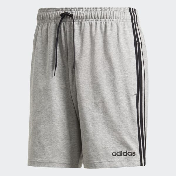 Essentials 3 Stripes Short Grijs DU0493 01 Laydown