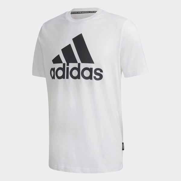 Must Haves Badge Of Sport T Shirt Wit GC7348 01 Laydown